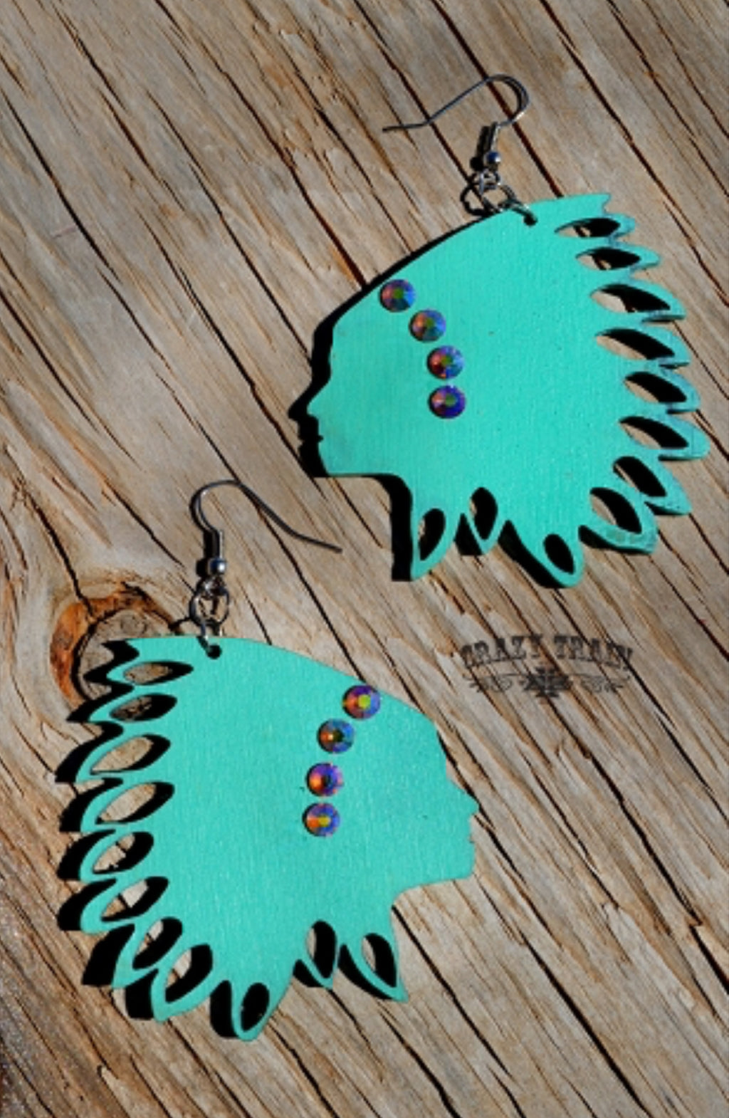 Crazy Train Consuela Chief Earrings