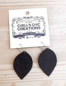 Small Black Earrings