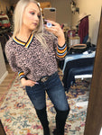 Kasey Leopard Crop Sweater