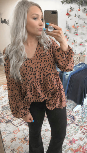 Anne Leopard Top