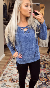 Blair Lace-Up Sweater