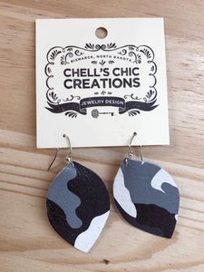 Small Camo Earrings