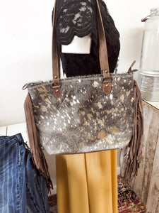 Cowhide Conceal and Carry Shoulder Bag