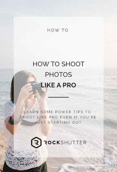 How to shoot photos like a pro when you're just starting out
