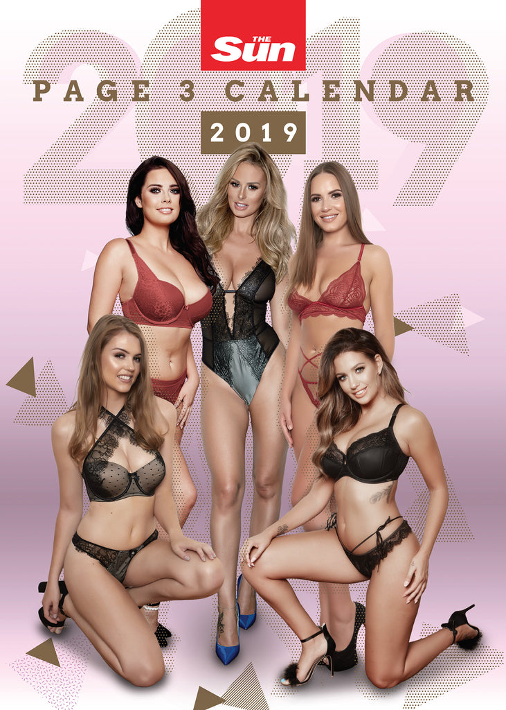 The Sun Page 3 Official 2019 Calendar