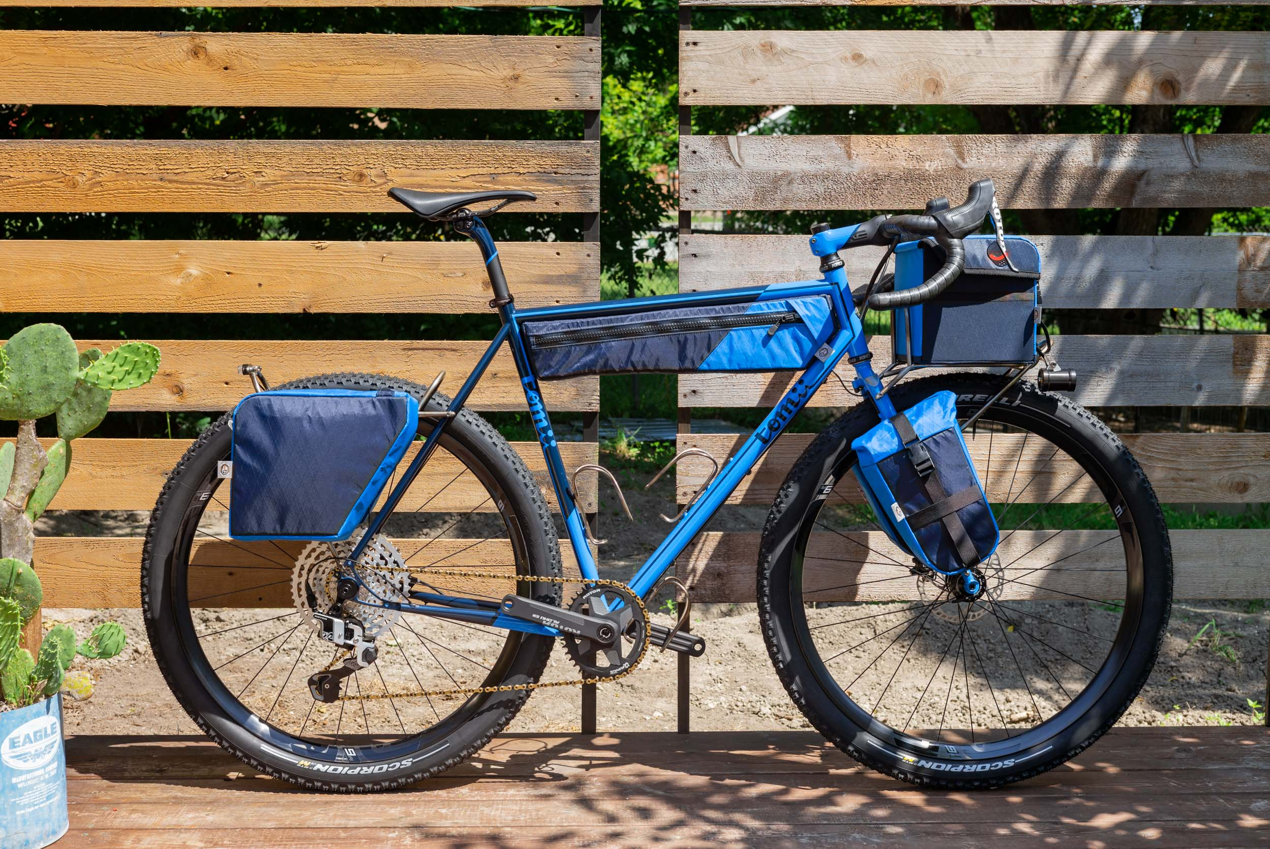 Kevin Girkins custom bike by Tomii Cycles, featuring ROTOR 1x13 groupset in 12-speed mode