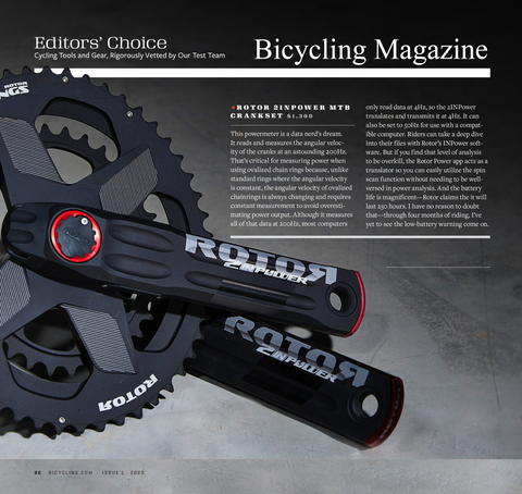 Bicycling Magazine Editor's Choice 2INpower power meter