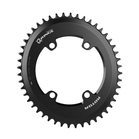 "ROTOR Bike Components Oval ""Q"" Chainring for 1x cranksets in 110 BCD asymmetric 4-bolt"