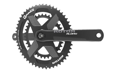 ROTOR ALDHU24 crank with chainrings