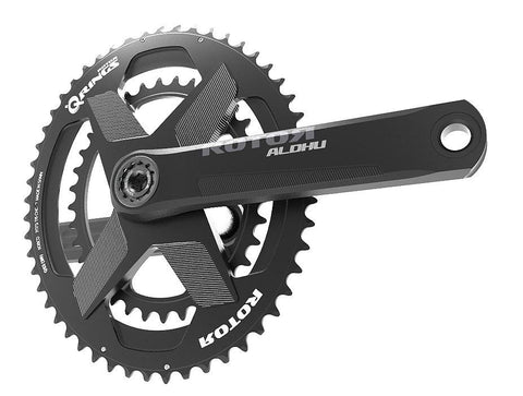 Black 24 mm R ROTOR BIKE COMPONENTS Unisex/_Adult ALDHU 24mm Achse Stahl Axles for Crank arms