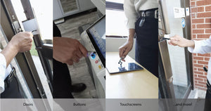 All the ways you can use TOUCH-AID. Doors, buttons, touchscreens, and more!