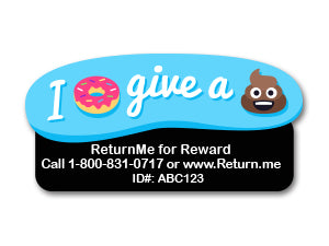 Emoji Label Tags (2 Pack) - ReturnMeTags