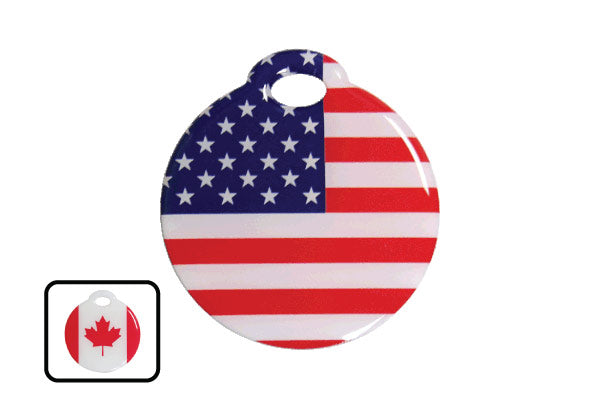 Flag Luggage Tags - ReturnMeTags