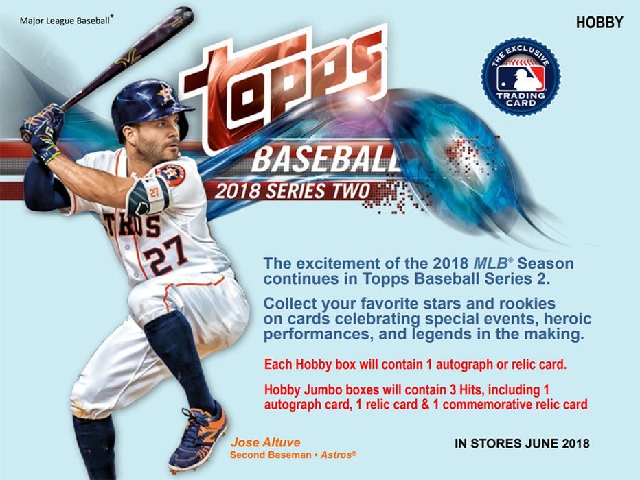 2018 Topps Series 2 Baseball Jumbo Hobby Box