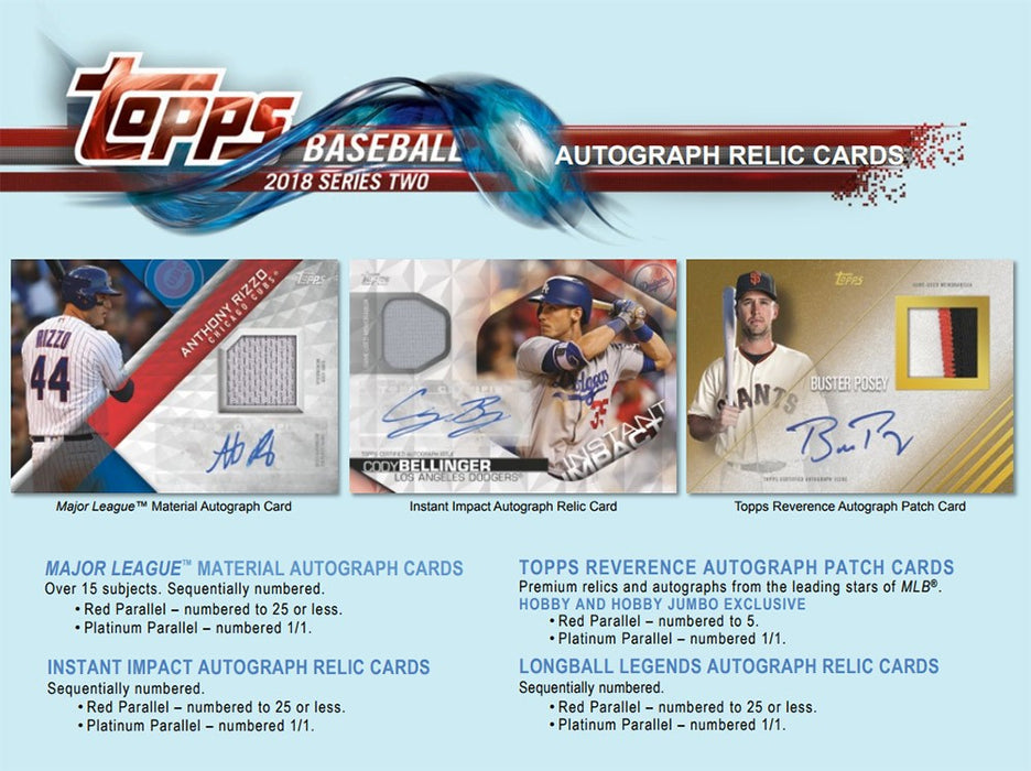 2018 Topps Series 2 Baseball Hobby Box