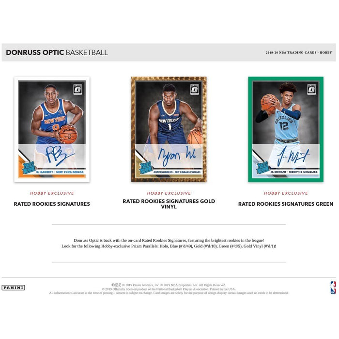 2019-20 Panini Donruss Optic Basketball Hobby Box