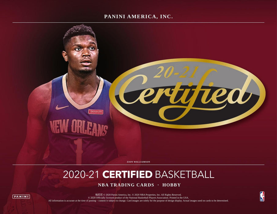 2020/21 Panini Certified Basketball Hobby Box - PRESELL