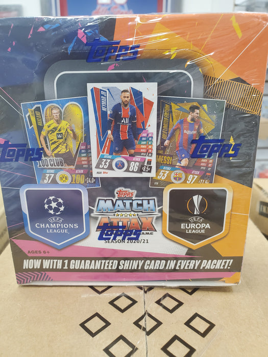 2020-21 TOPPS MATCH ATTAX CHAMPIONS LEAGUE CARDS 30pk BOX (180 CARDS TOTAL)