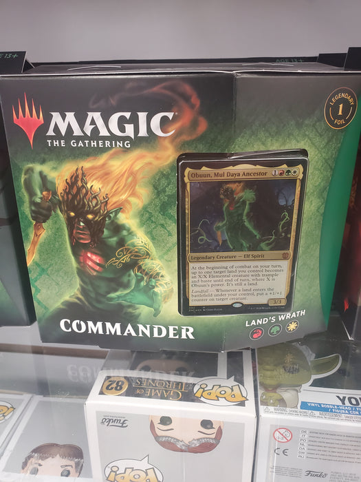 MTG Zendikar Rising LAND'S WRATH Commander Deck Magic the Gathering