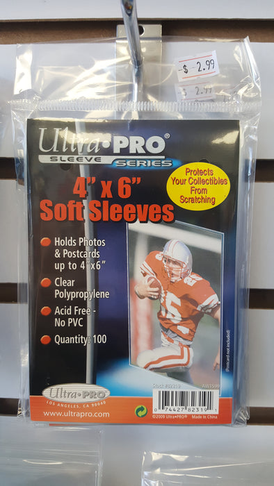 "Ultra Pro 4""x6"" Soft Sleeves"