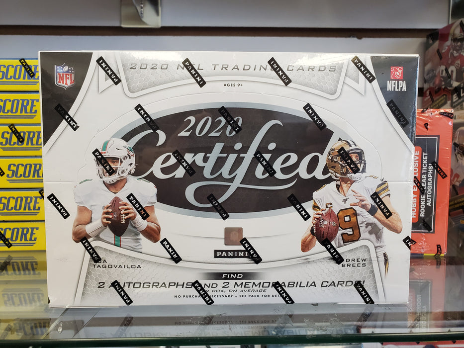 2020 Panini Certified Football Hobby Box - PACK