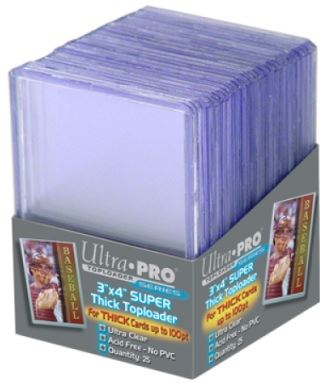 "Ultrapro 3"" X 4"" Super Thick Toploader (100Pt)"