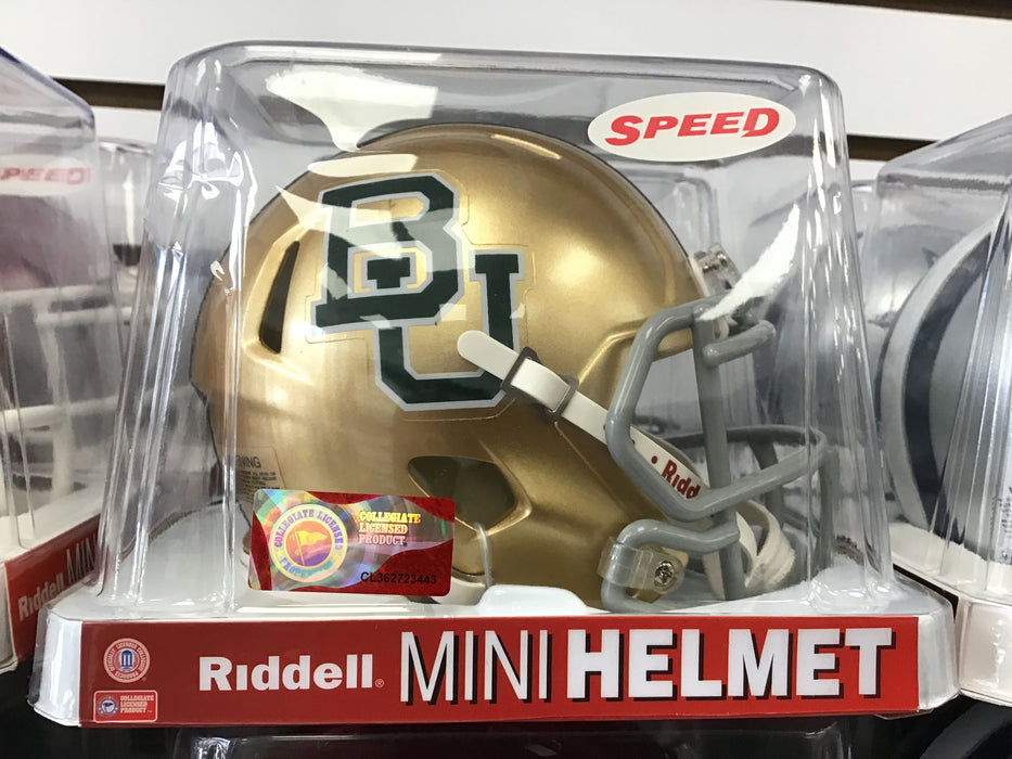 Baylor University BU GOLD SPEED Mini Football Helmet