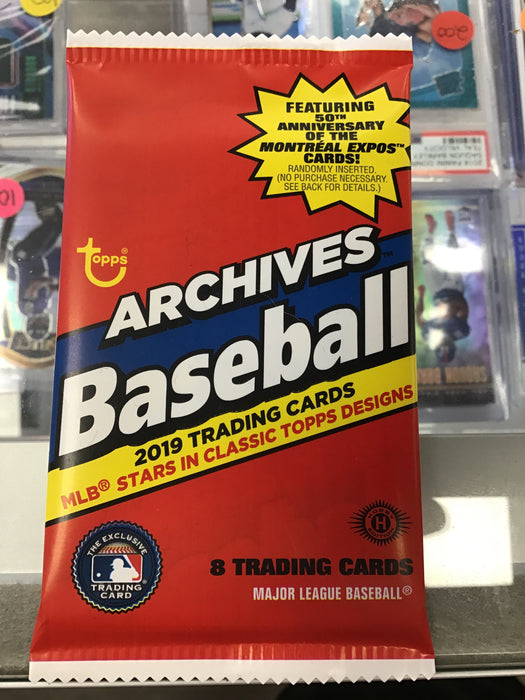 2019 Topps Archives Baseball Hobby Box PACK