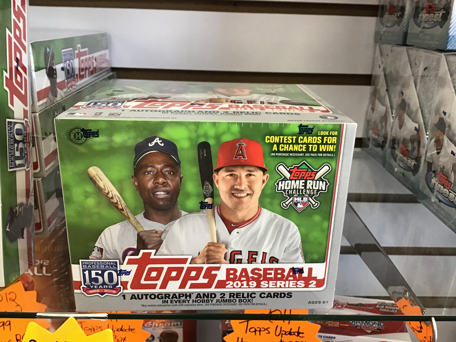 2019 Topps Series 2 Baseball Jumbo Hobby Box