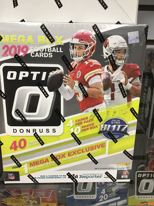2019 Panini Donruss Optic Football Mega Box