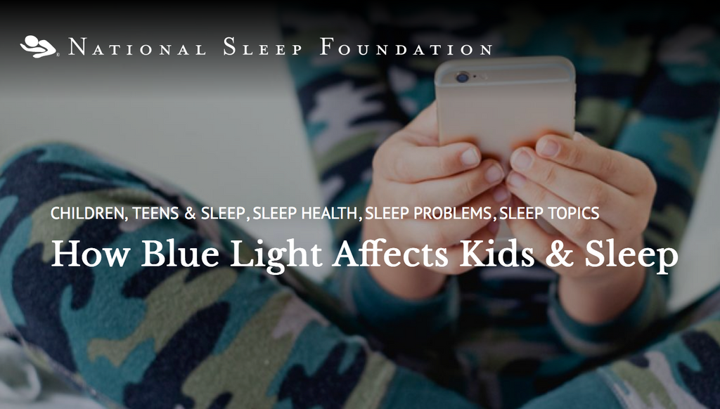 How Blue Light Affects Kids & Sleep