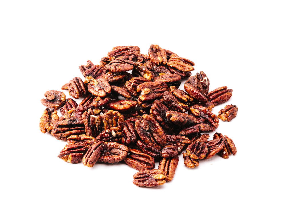Cluster of smokey maple pecans