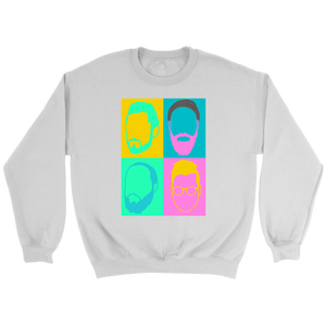 Color Face Design - Crewneck Sweatshirt