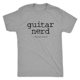 Guitar Nerd Black Logo - Triblend