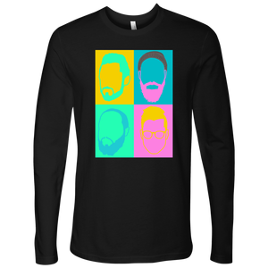 Color Face Design - long tee