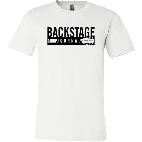 Backstage Journal Podcast T-Shirt - White