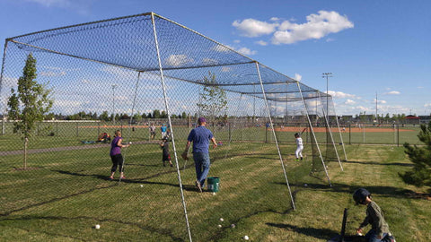 Wheelhouse Batting Cage with #21 Knotted Nylon Netting