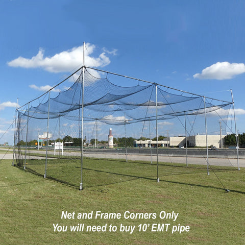 Cimarron #24 32x32x12 Diamond Deluxe Batting Cage with Knotted Poly Netting