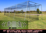 Cimarron Batting Cages with #24 Knotted Poly Netting