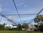 Basecage® 60'L x 12'W x 10'H #42 HDPE Square Hung Batting Cage Kit (No Poles)