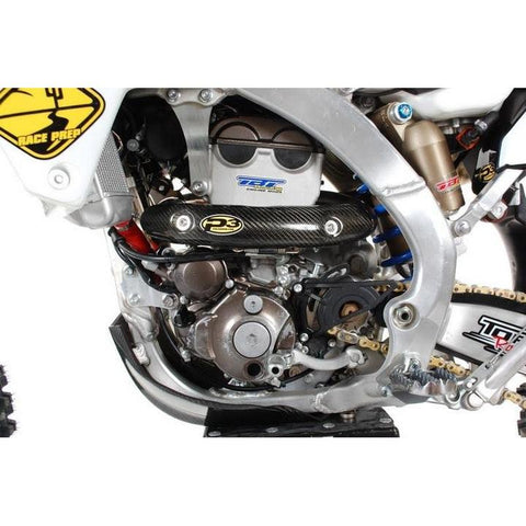 Ι SC Ι - P3 Carbon Skidplate + Heat Shield / Pipe Guard COMBO BUNDLE - C3 Powersports Snowbike Timbersled Yeti Mototrax KTM Husky Husqvarna Yamaha YZ  Honda CRF 450 Accessories Upgrades