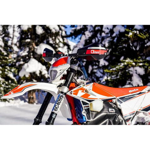 Ι SC Ι - FORCEFIELD Wrap-Around Handguards Complete - C3 Powersports Snowbike Timbersled Yeti Mototrax KTM Husky Husqvarna Yamaha YZ  Honda CRF 450 Accessories Upgrades