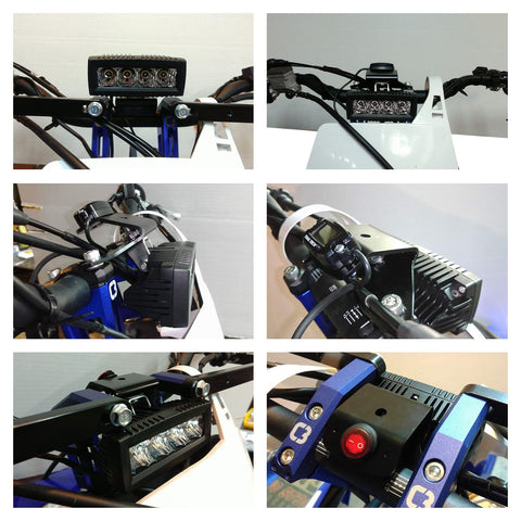 LED Lighting - C3 Powersports Snowbike Timbersled Yeti Mototrax KTM Husky Husqvarna Yamaha YZ  Honda CRF 450 Accessories Upgrades