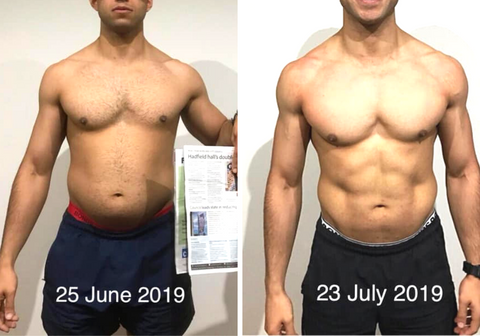carb cycling before & after