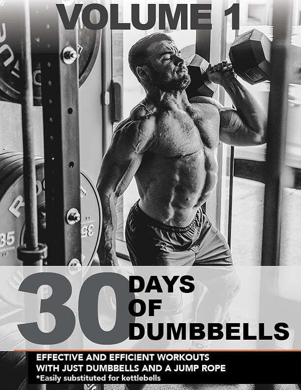 Dumbbells ONLY eBook - 30 Days of Workouts