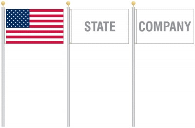 how to display american flag with foreign flags