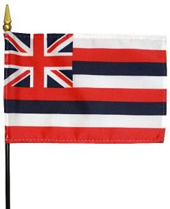Miniature Hawaii Flag