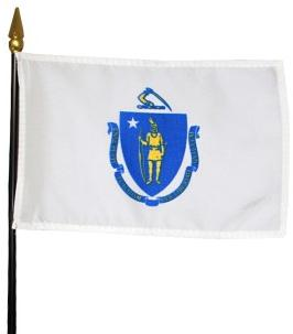 Miniature Massachusetts Flag