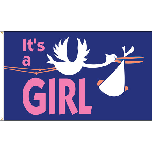 Its a girl flag for Sale | Shop It's a girl Flags | Baby Flag | Girl Flag