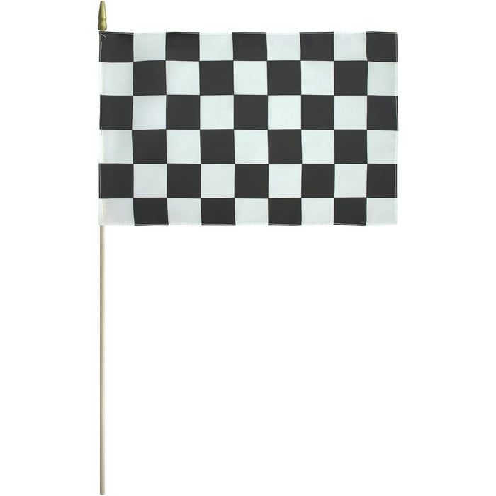 "12""x18"" Mounted Checkered Flag"